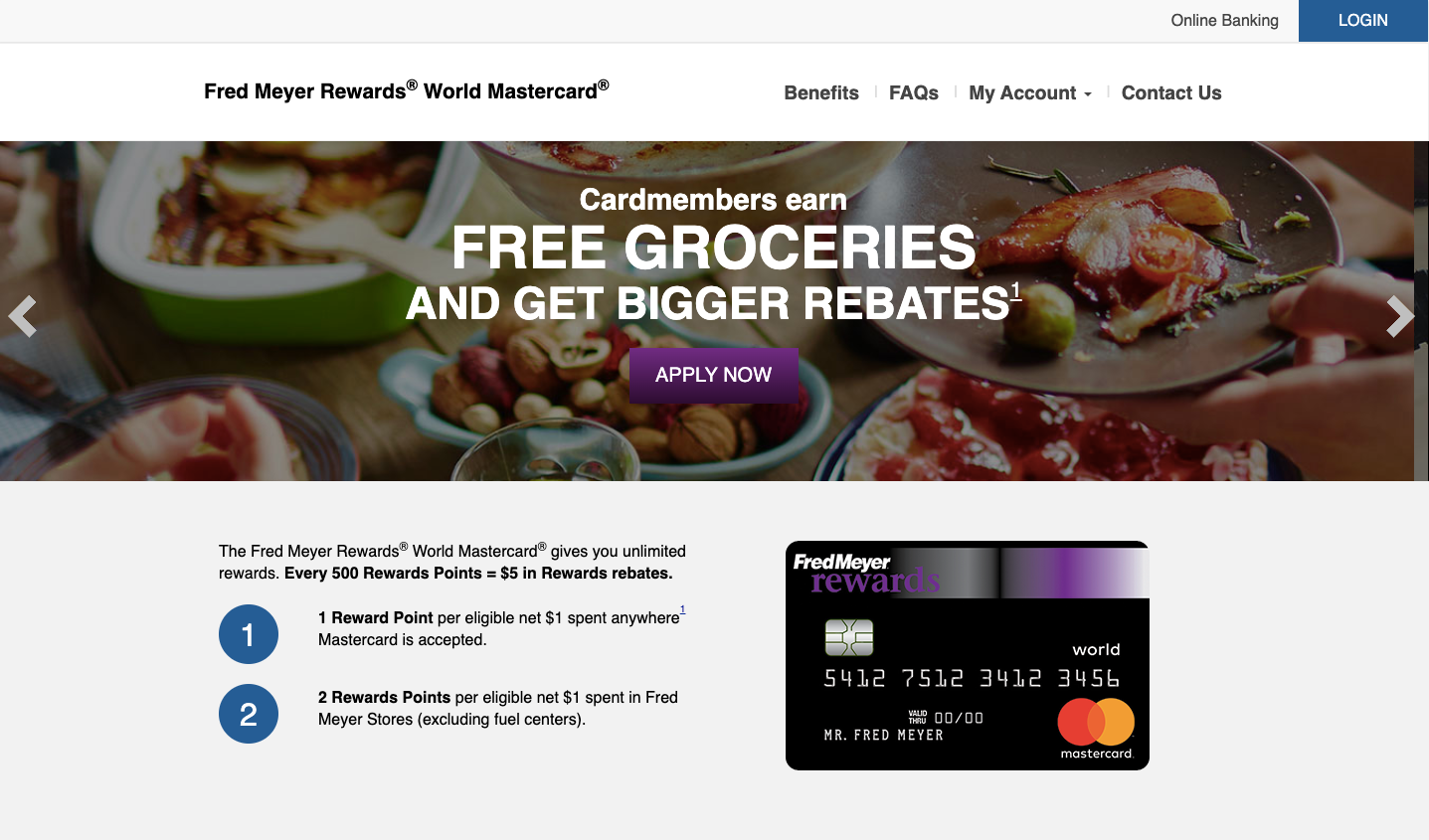 Fred Meyer Rewards World Master Card