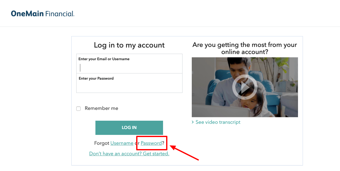 OneMain Financial online login