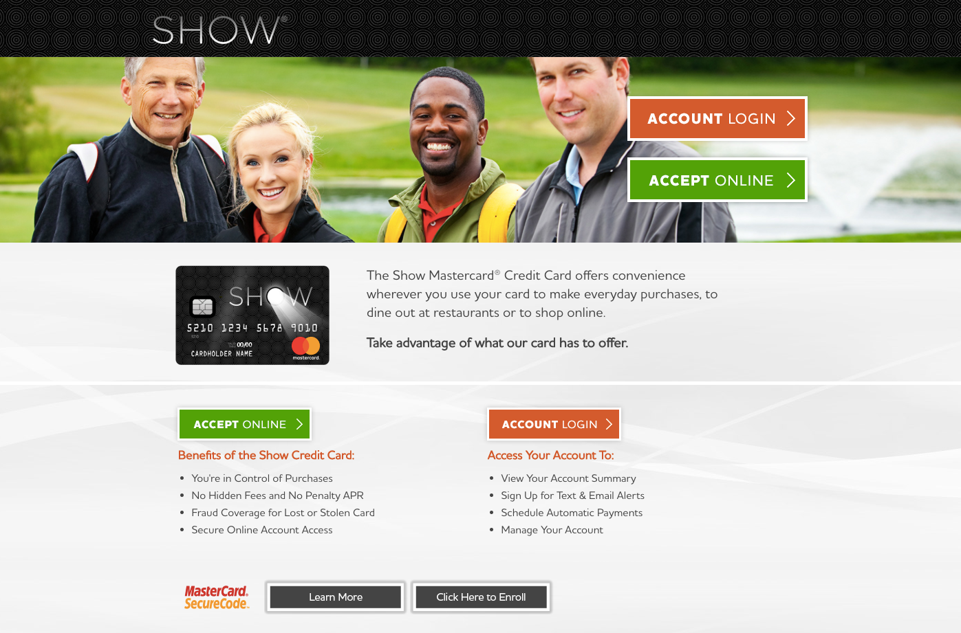 Show Credit Card